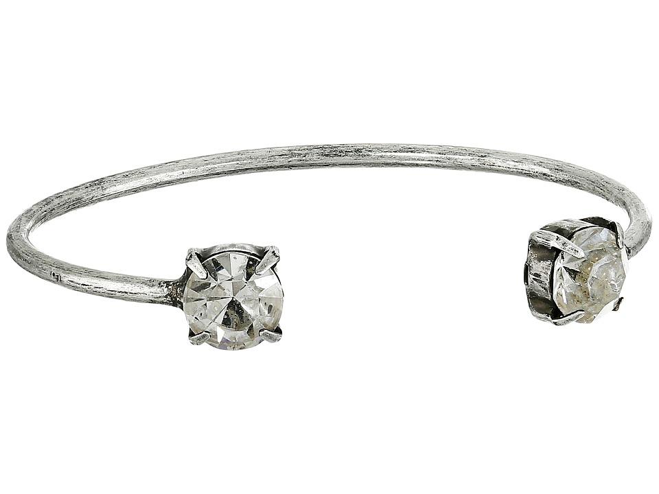 DANNIJO CLARE Cuff Silver/Crystal Bracelet