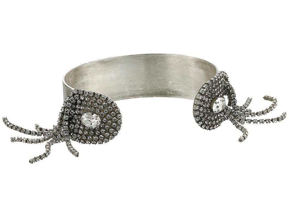 DANNIJO FAWCETT Cuff Silver/Crystal Bracelet