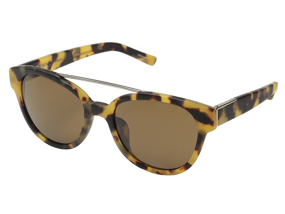 3.1 Phillip Lim PL92 Frosted Graphic Tortoise Shell/Light Gold/Brown Fashion Sunglasses