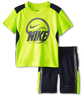 Nike Kids - Just Do It Poly Short Sleeve Shorts Set (Little Kids)