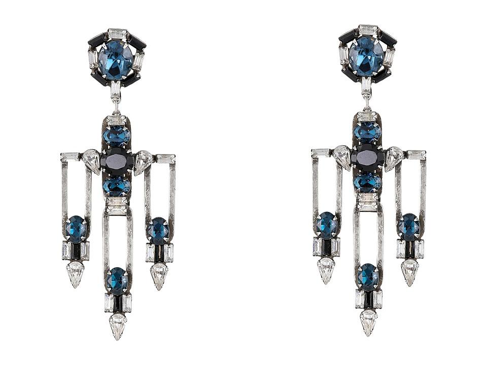 DANNIJO CHRISTY Earrings Silver/Jet Earring
