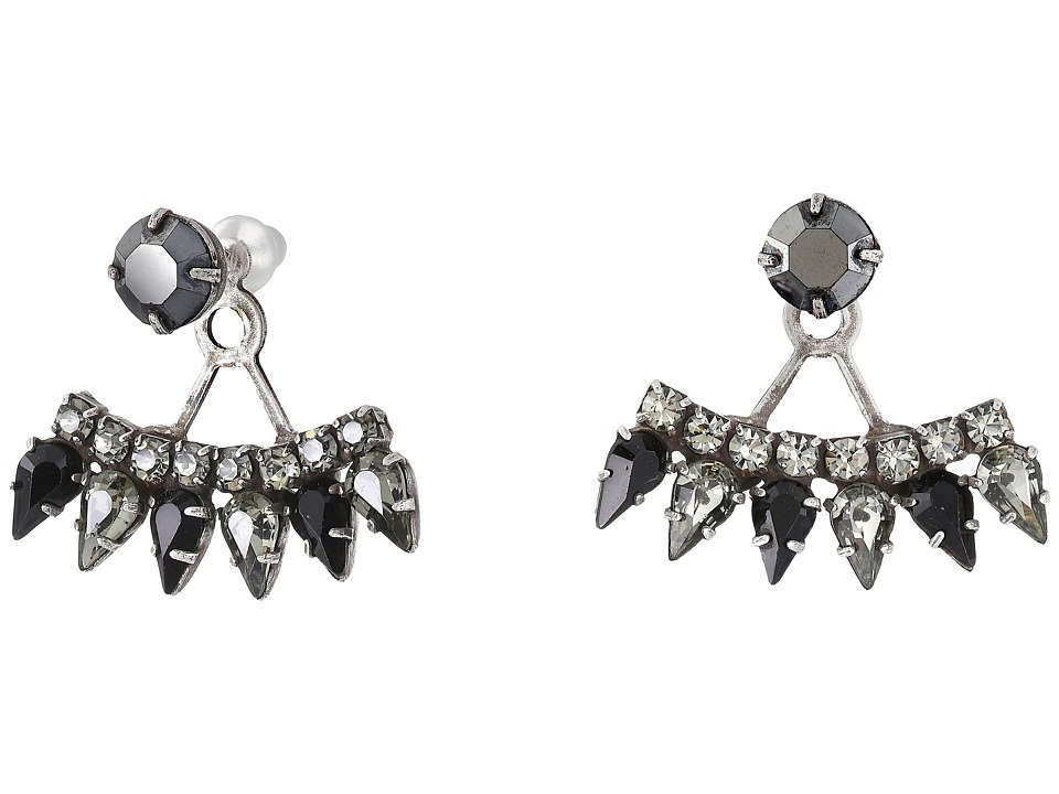 DANNIJO BETSON Earrings Silver/Jet Earring