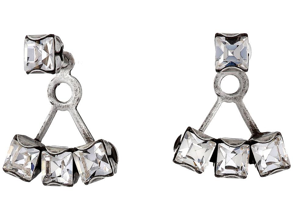 DANNIJO DONNA Ear Jacket Earrings Silver/Crystal Earring