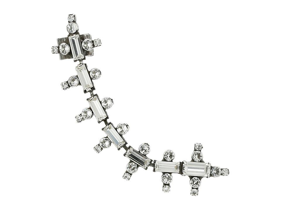 DANNIJO ZOSIA Ear Cuff Earrings Silver/Crystal Earring