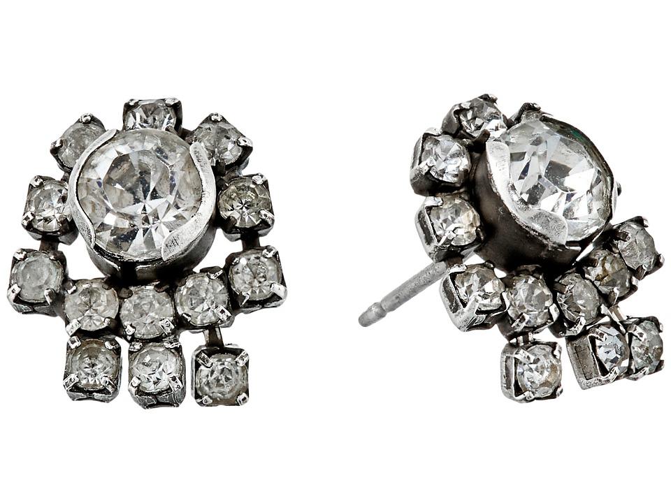 DANNIJO EVSE Stud Earrings Silver/Crystal Earring