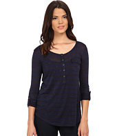 Splendid - Striped Speckled Melange Henley