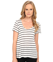 Splendid - Striped Speckled Melange Tee