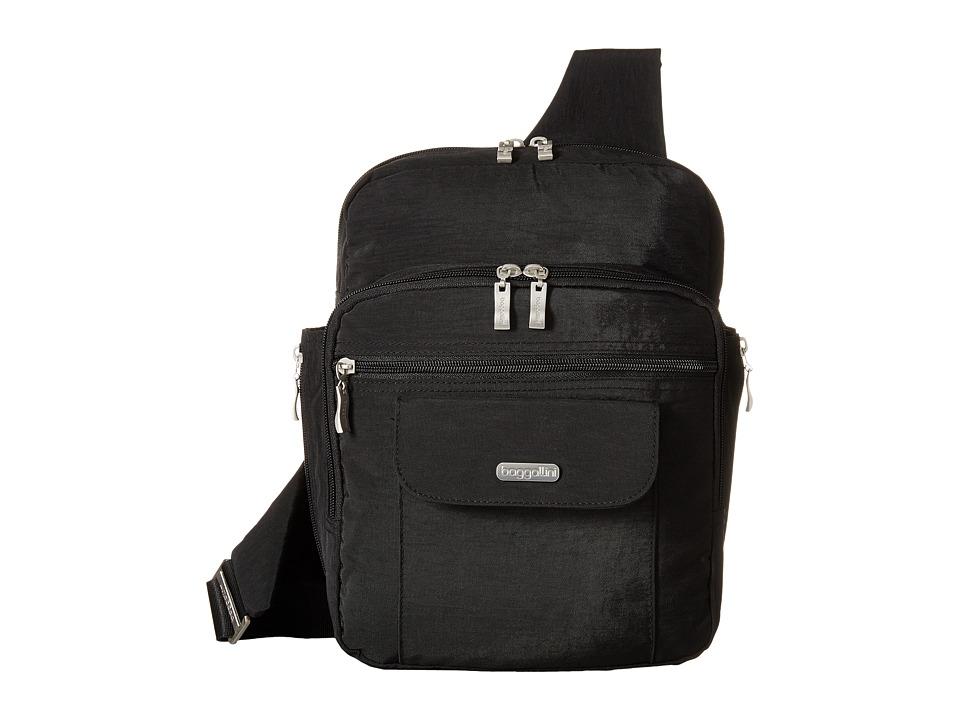Baggallini Messenger Bagg Black/Sand Handbags