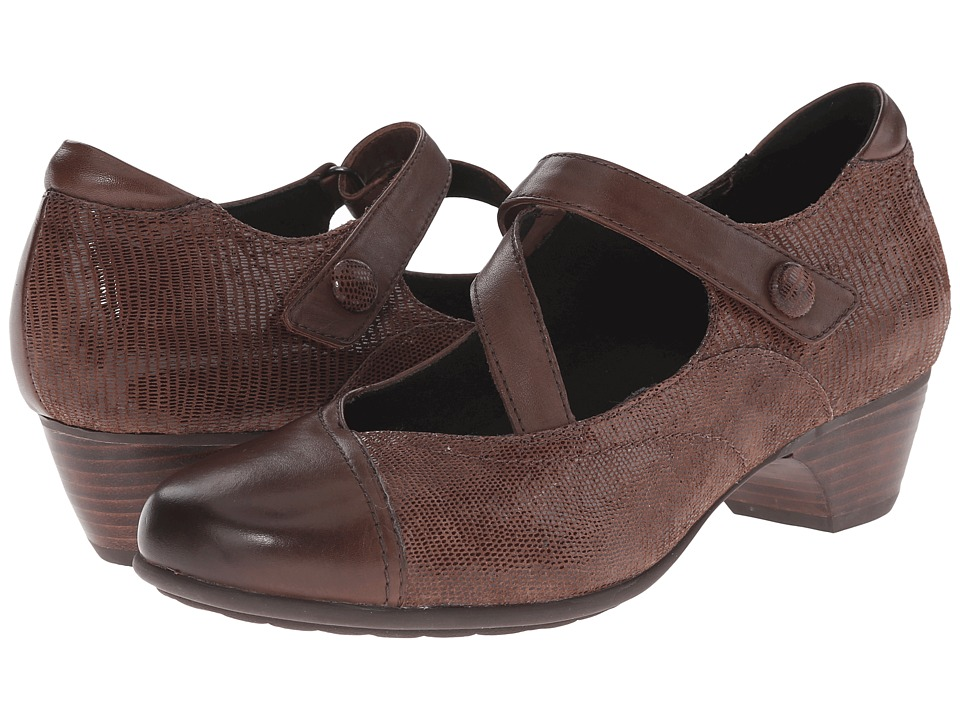 Aravon Portia (Brown Multi) Maryjanes