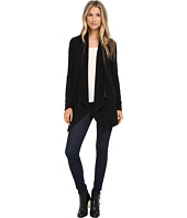 Splendid - Tencel Jersey with Faux Leather Cardigan