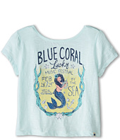Lucky Brand Kids - Blue Coral Festival Tee (Big Kids)