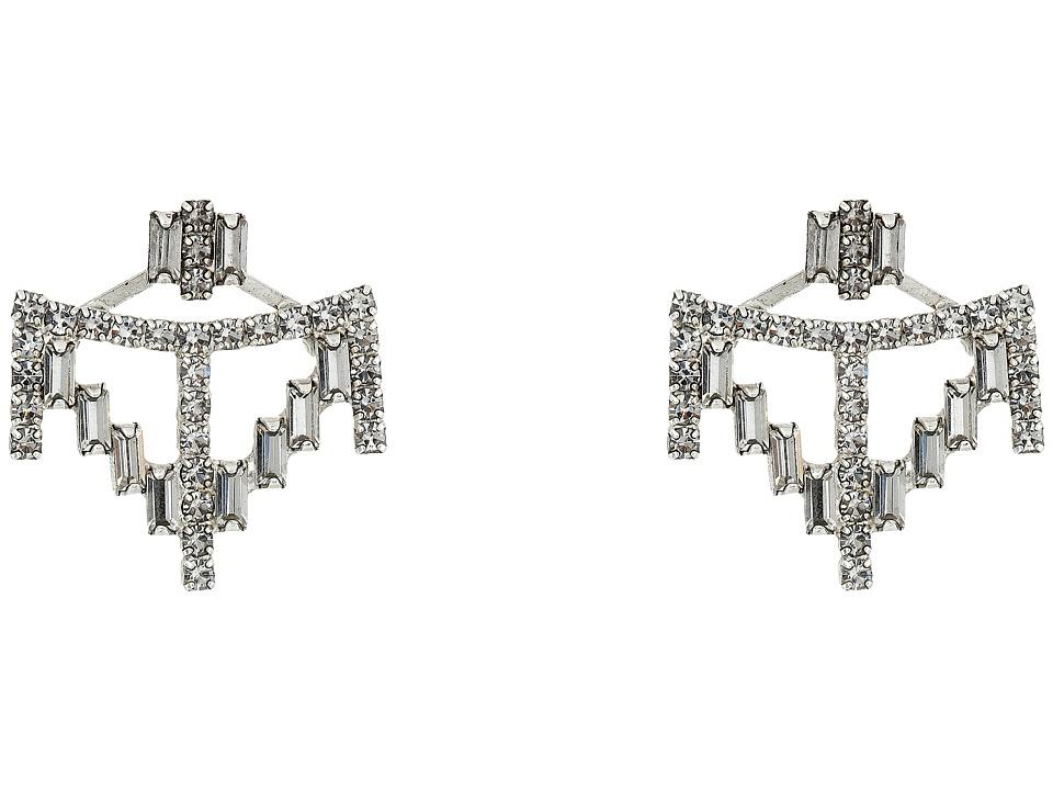 DANNIJO HENDRIX Earrings Silver/Crystal Earring