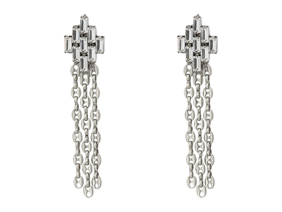 DANNIJO JETT Earrings Silver/Crystal Earring