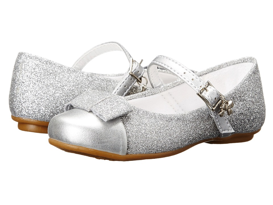 Pampili Angel 10 Toddler/Little Kid/Big Kid Silver 1 Girls Shoes