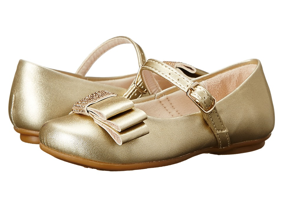 Pampili Angel 10 Toddler/Little Kid/Big Kid Gold Girls Shoes
