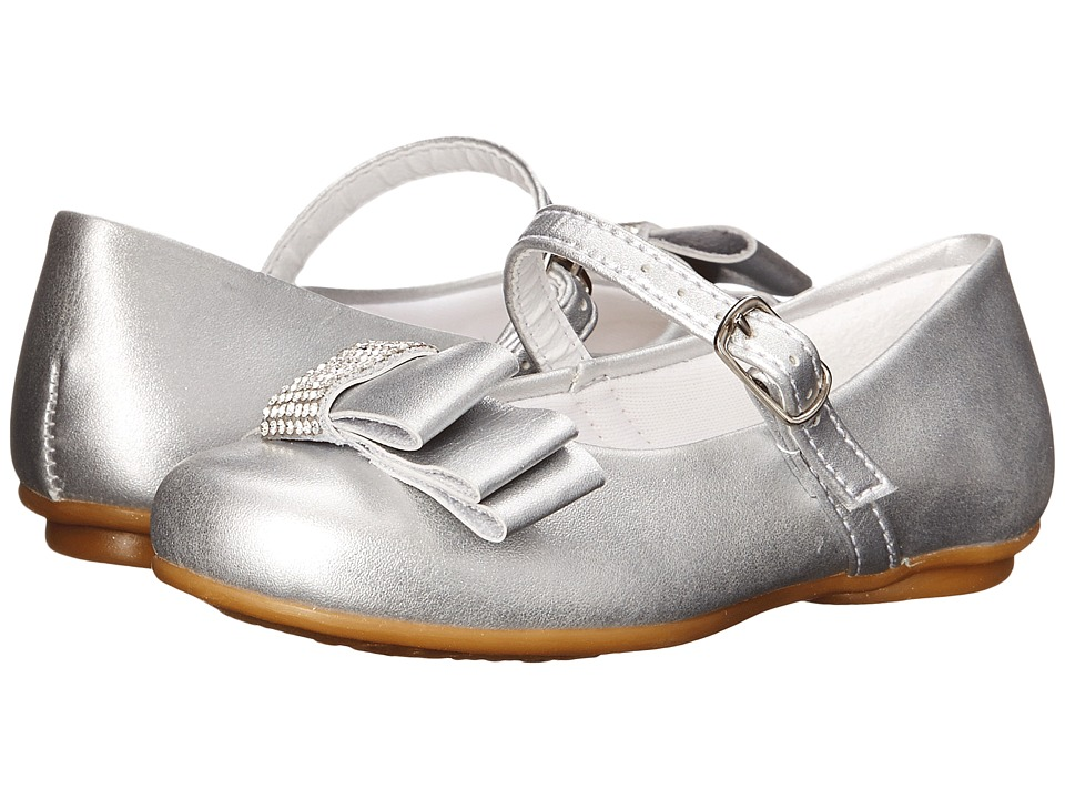 Pampili Angel 10 Toddler/Little Kid/Big Kid Silver Girls Shoes