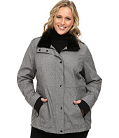Jessica Simpson - Plus Size Zip Front Soft Shell with Faux Fur