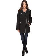 Jessica Simpson - Asymmetrical Zip Quilt with Hood
