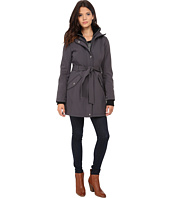 Jessica Simpson - Long Zip Front Soft Shell with Belt