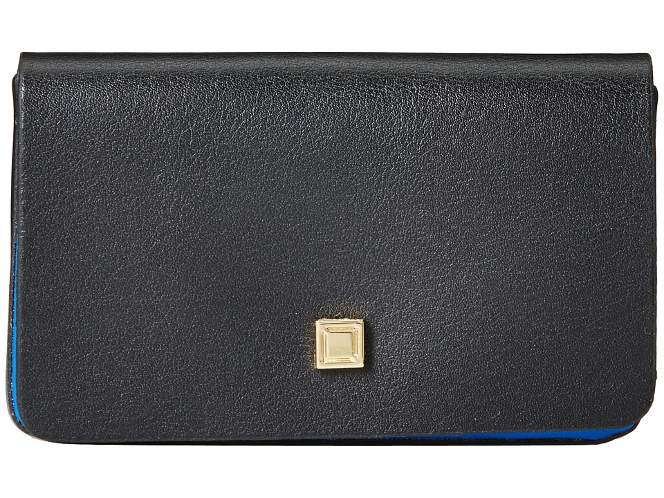 Lodis Accessories Blair Mini Card Case Black/Cobalt Credit card Wallet