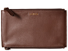 Lodis Accessories Kate Lani Double Zip Pouch (Chocolate)