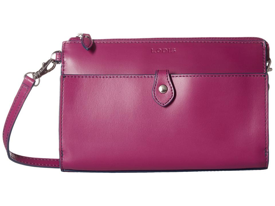 Lodis Accessories Audrey Vicky Convertible Crossbody Clutch Plum/Indigo Clutch Handbags
