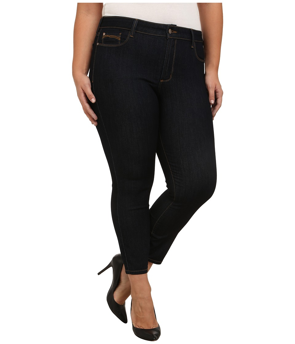 NYDJ Plus Size - Plus Size Clarissa Ankle Jean in Dark Enzyme (Dark Enzyme) Women's Jeans plus size,  plus size fashion plus size appare