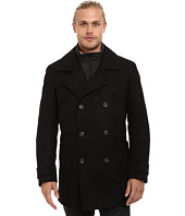 Marc New York by Andrew Marc - Mulberry Pressed Wool Peacoat w/ Removable Quilted Bib