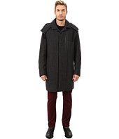 Marc New York by Andrew Marc - Boulevard Shadow Herringbone Mackintosh Jacket w/ Removable Hood