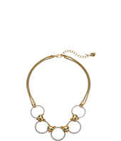 Betsey Johnson - Fox Trot Pave Ring Frontal Necklace