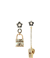 Betsey Johnson - Wanderlust Lock Whistle Mismatch Earrings