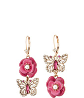 Betsey Johnson - Flower Butterfly Mismatch Earrings