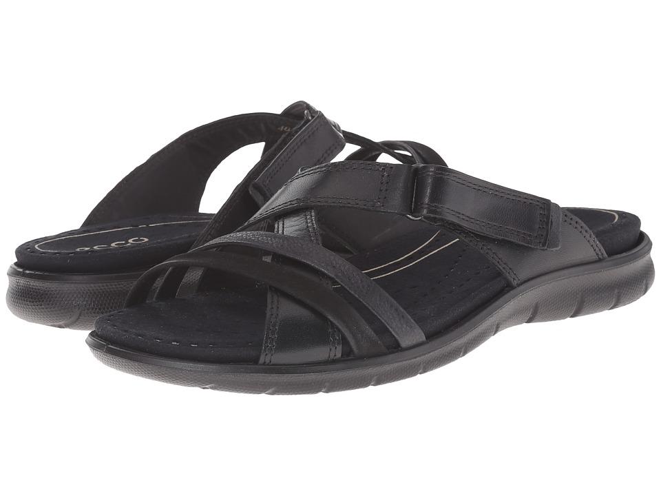 ECCO Babett Sandal Strap Slide Black/Black 1 Womens Slide Shoes