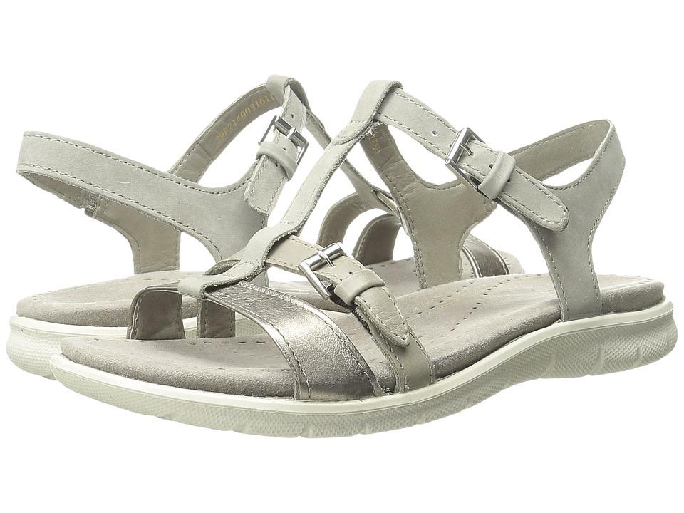 ECCO Babette Sandal T Strap Moon Rock/Moon Rock 1 Womens Sandals