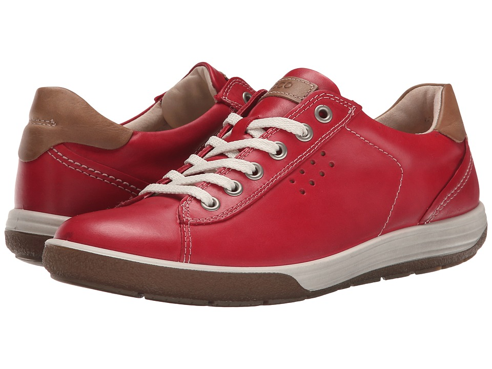 ECCO Chase II Tie Chili Red Womens Lace up casual Shoes