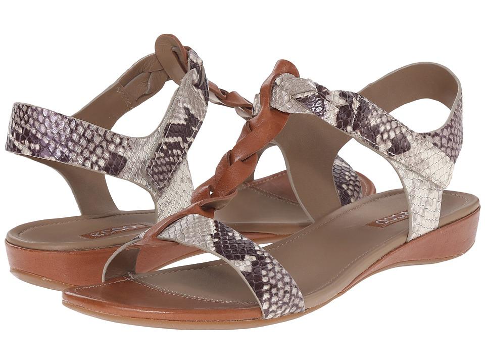 ECCO Bouillon Knot Sandal II Cognac/Sage Womens Sandals