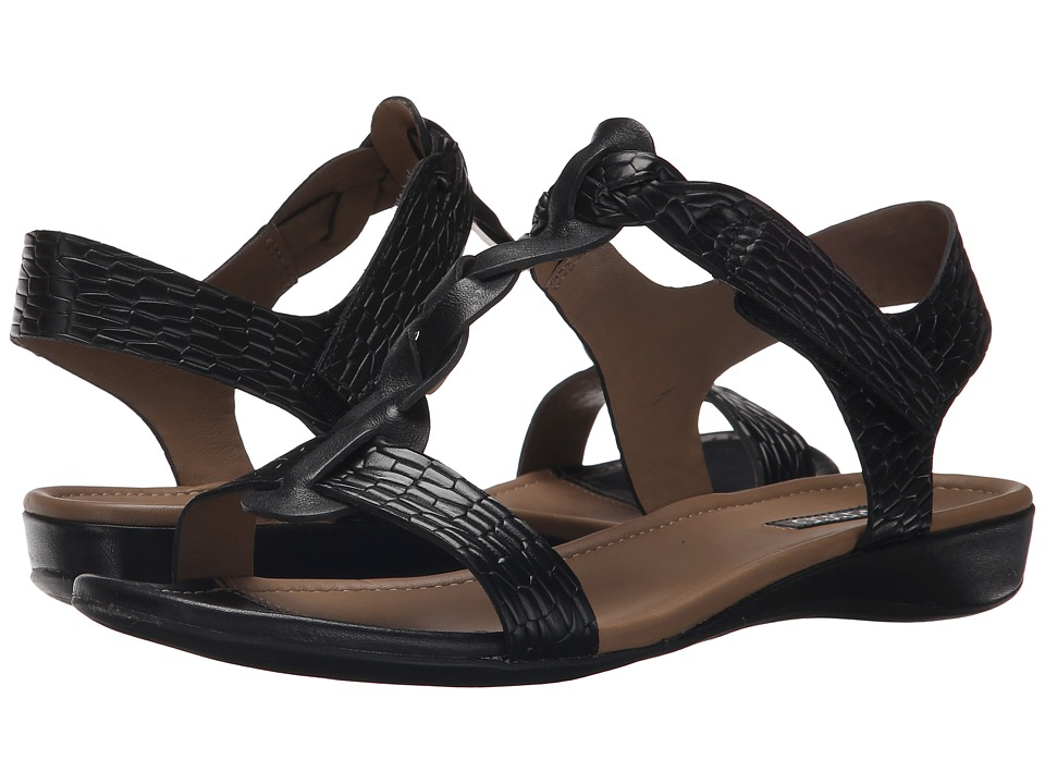 ECCO Bouillon Knot Sandal II Black/Black 1 Womens Sandals
