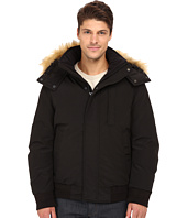 Marc New York by Andrew Marc - Bristol Down Filled Oxford Twill Bomber w/ Faux Fur Trimmed Removable Hood
