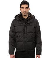 Marc New York by Andrew Marc - Fauxmula Down Filled Bomber w/ Faux Fur Trimmed Collar and Removable Hood