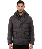 Marc New York by Andrew Marc - Dumbo Down Filled Mid Length Jacket w/ Removable Chunky Knit Bib and Hidden Hood
