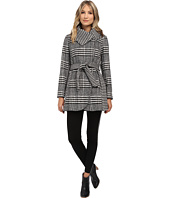 Jessica Simpson - Glen Plaid/Houndstooth Coat with Belt