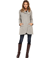 Jessica Simpson - Asymmetrical Braided Wool Coat with Shawl Collar