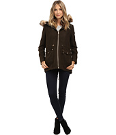 Jessica Simpson - Melton Touch Anorak Coat with Faux Fur