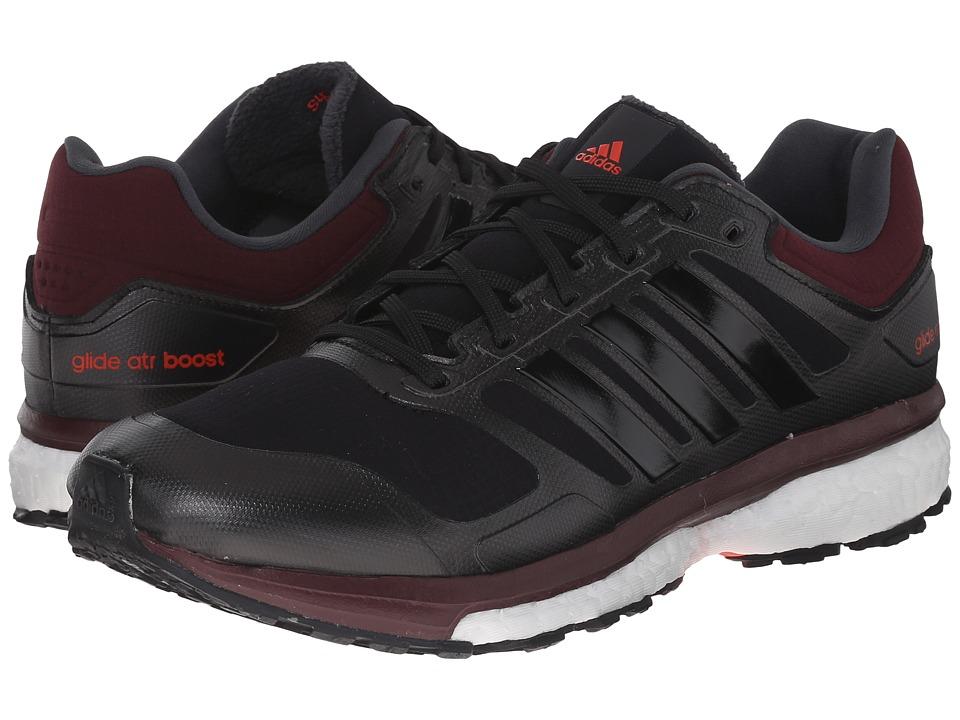 adidas Running Supernova Glide Boost ATR Black/Black/Maroon Womens Shoes