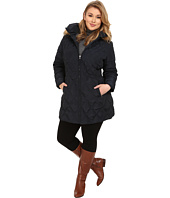Jessica Simpson - Plus Size Quilted Down with Faux Fur Trimmed Hood
