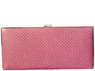 Lodis Accessories Sophia Woven Andra Clutch Wallet (Plum/Gold)