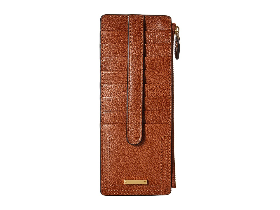 Lodis Accessories - Stephanie RFID Under Lock Key Credit Card Case w/ Zipper Pocket (Chestnut) Credit card Wallet