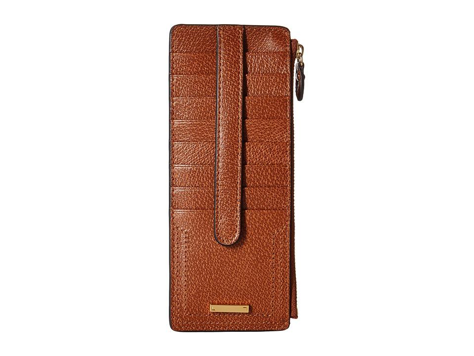Lodis Accessories - Stephanie RFID Under Lock Key Credit Card Case w/ Zipper Pocket (Chestnut) Credit card Wallet