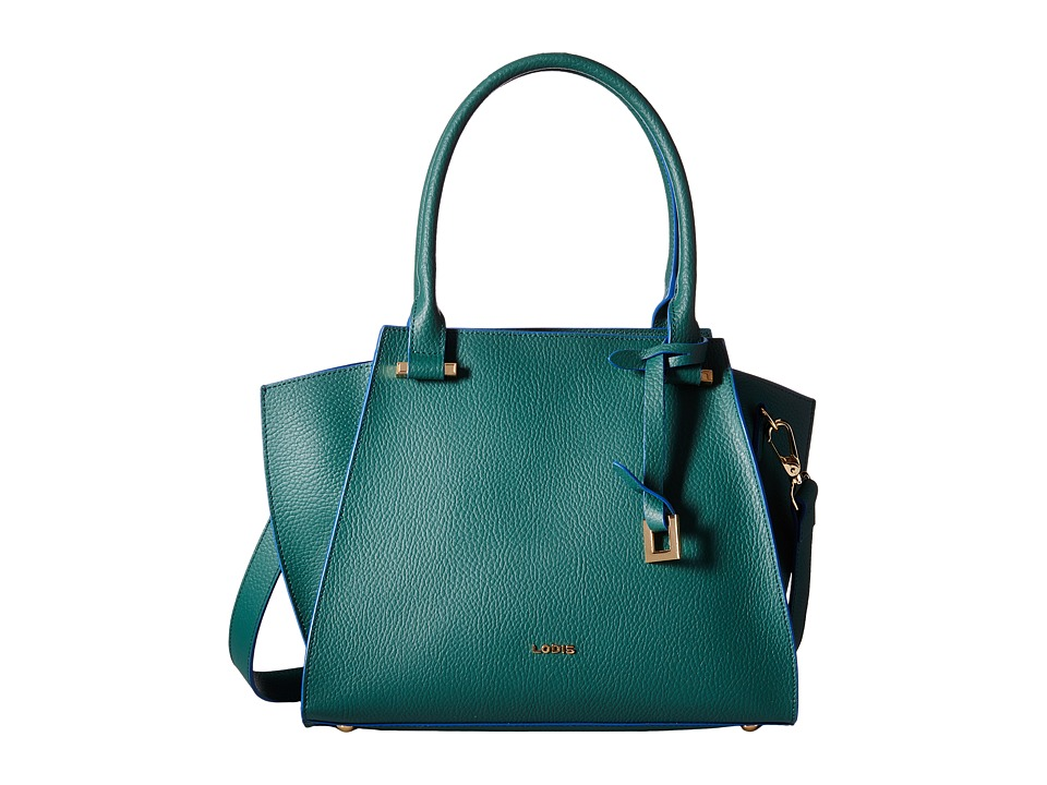 Lodis Accessories - Zoey Karly Satchel (Green/Cobalt) Satchel Handbags