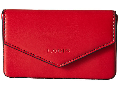 Lodis Accessories Audrey Maya Card Case - Red/Black